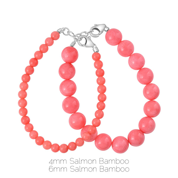 Salmon Bamboo 4mm Bracelet
