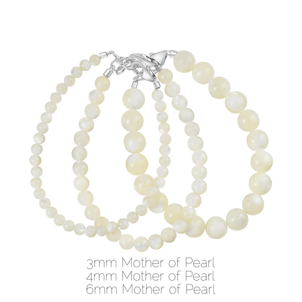 Mother of Pearl 3mm Bracelet