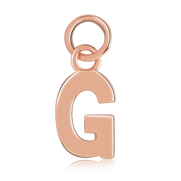 14k Rose Gold Initial Charms