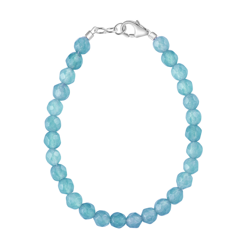 Sky Blue Agate 4mm Bracelet