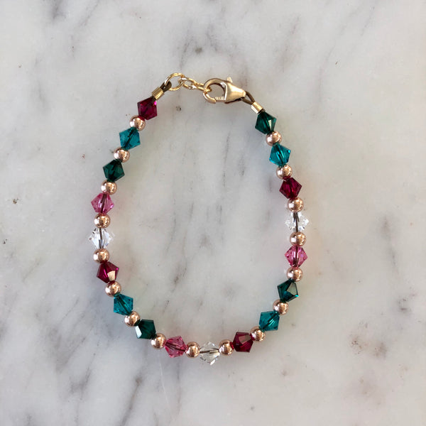 Birthstone Collection - Custom 14K Rose Gold Every Other Bracelet