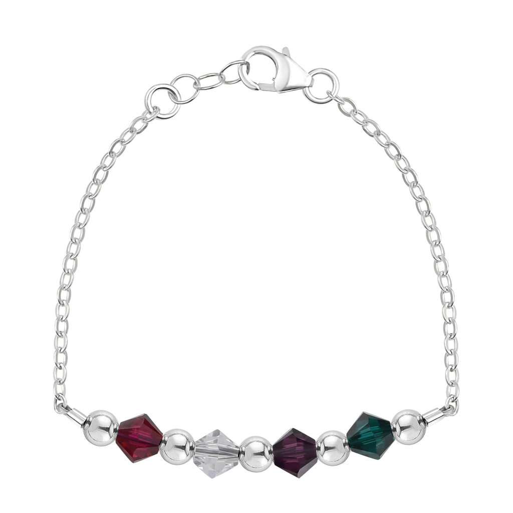 Birthstone Collection - Custom Sterling Silver Chain Bracelet