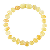 Baltic Amber Adult Bracelet - Polished Butter