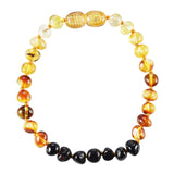 Baltic Amber Adult Bracelet - Polished Rainbow