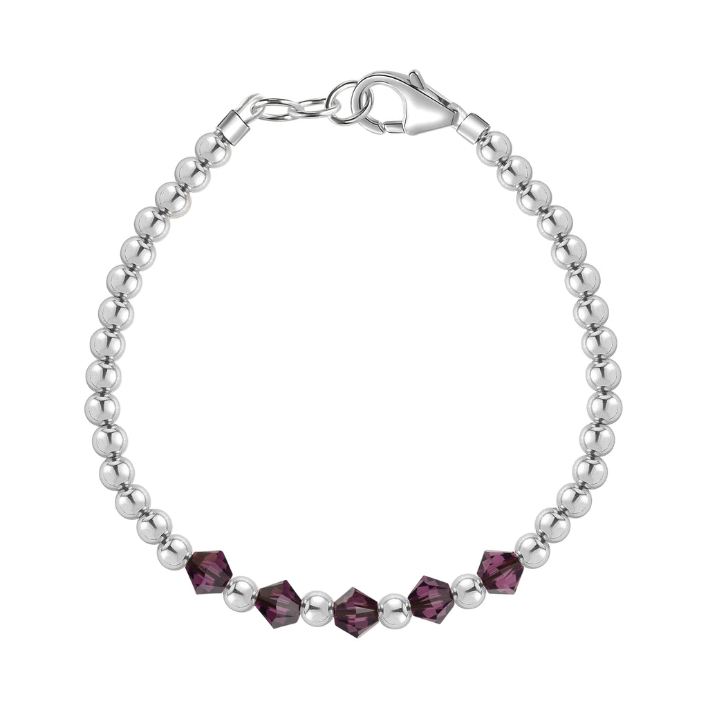Birthstone Collection - February Bracelets