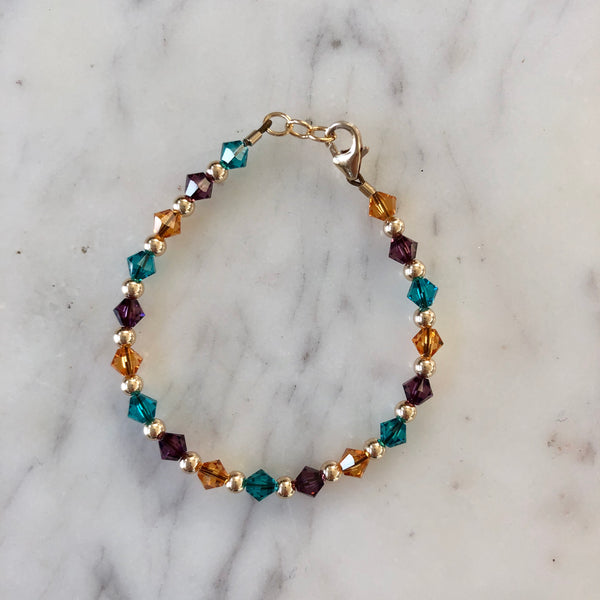 Birthstone Collection - Custom 14K Gold Every Other Bracelet