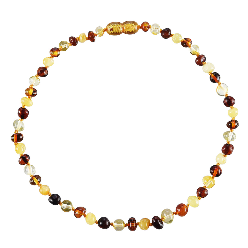 Baltic Amber Baby Necklace - Polished Multicolor