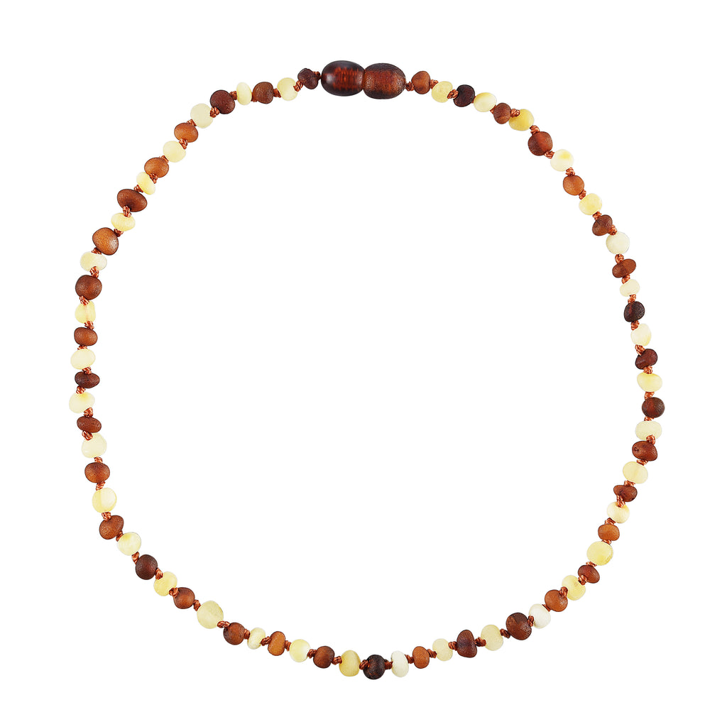 Baltic Amber Baby Necklace - Raw Multicolor