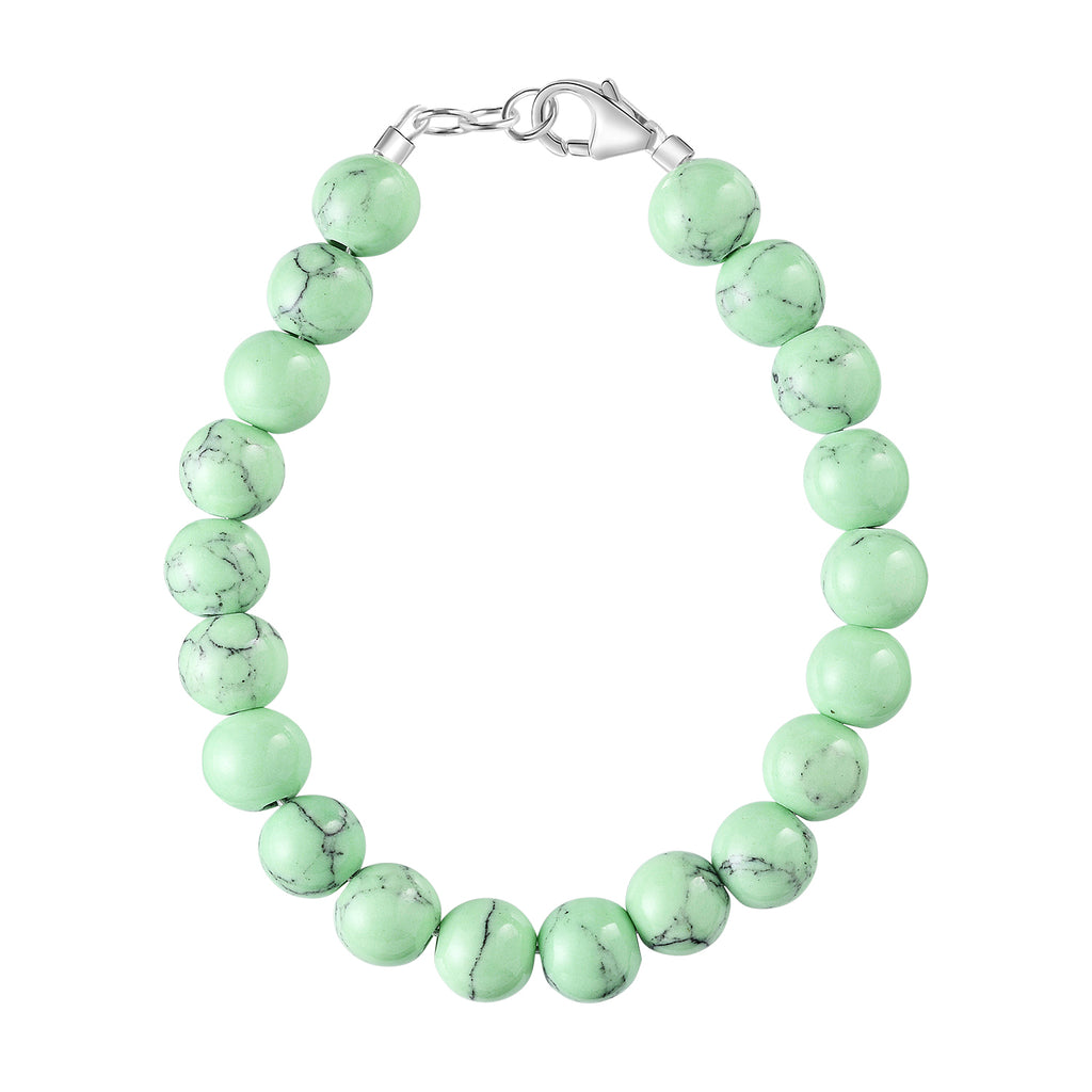 Mint Chocolate Chip Howlite 6mm Bracelet