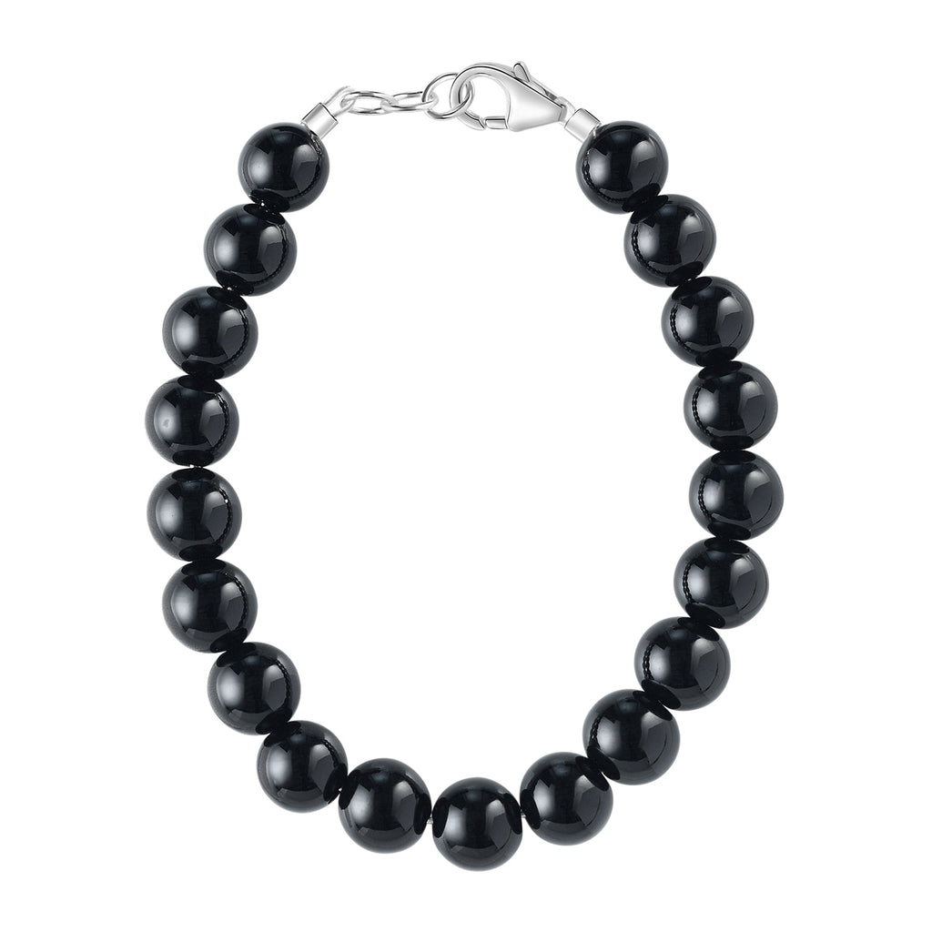 Shiny Black 6mm Bracelet