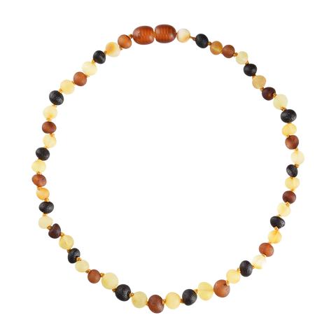 Baltic Amber Baby Necklace - Raw Multicolored