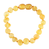 Baltic Amber Baby Bracelet - Raw Lemon