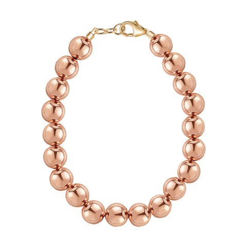 14k Rose Gold 6mm Bracelet