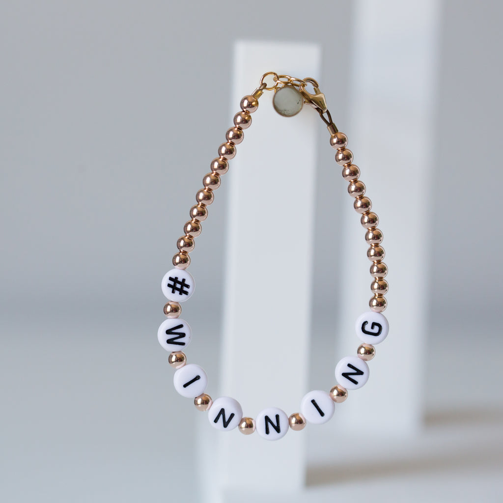 Hashtag add-on for letter bracelets
