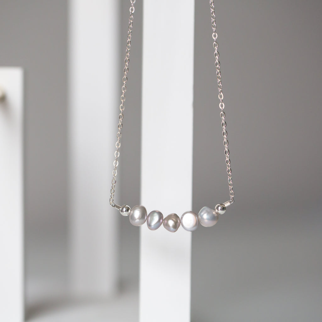 The Silvermist Freshwater Pearl Necklace