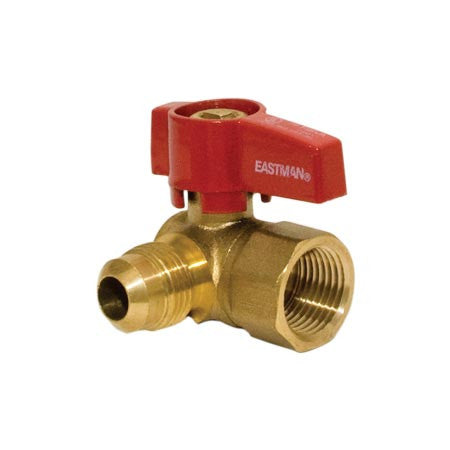 "BRASS GAS BALL VALVE - ANGLE FLARE<br/>3/4"" IPS - 5/8"" OD Flare"