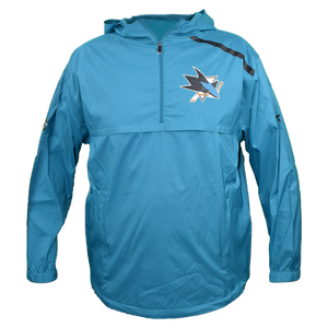 Fanatics Sharks Pro Stock Anorak 1/4 Zip Jacket