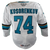 Game Used Pro Barracuda White Jersey-Ivan Kosorenkov #74