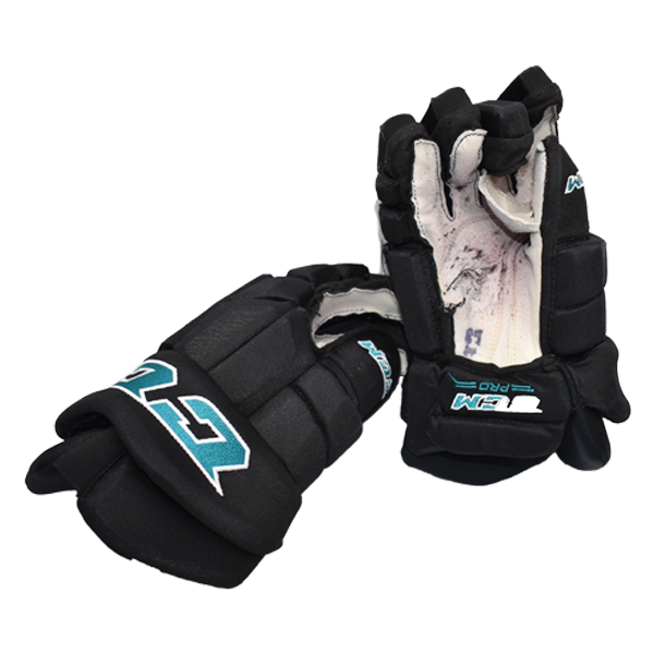 Used Sharks CCM Gloves Number 89