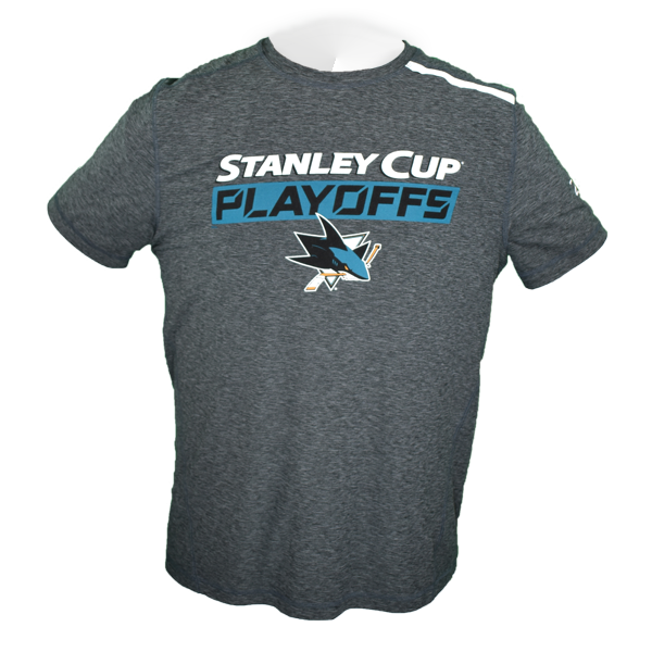"Fanatics Sharks 2019 Stanley Cup Playoffs ""Our Time"" Pro Stock Athletic Shirt"