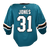 Game Used Pro Teal Sharks Jersey - Martin Jones #31