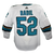 Game Used Pro White Sharks Jersey - Lukas Radil #52