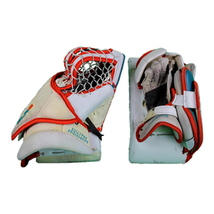 Used Andrew Shortridge Vaughn Blocker and Practice Catch Glove