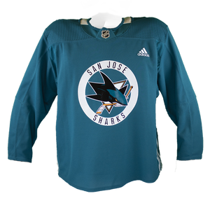Slightly Worn Sharks Pro Stock Practice Jersey Teal