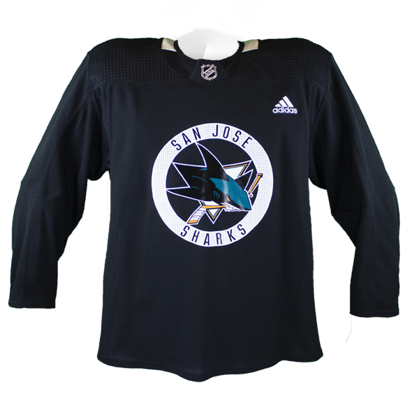 New Sharks Pro Stock Practice Jersey Black