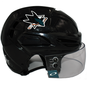 Game Used Black Helmet w/visor and SC Playoff Decal Logan Couture