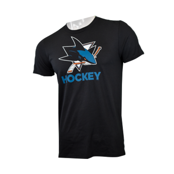 Adidas Sharks Hockey 60/40 Short Sleeve Shirt