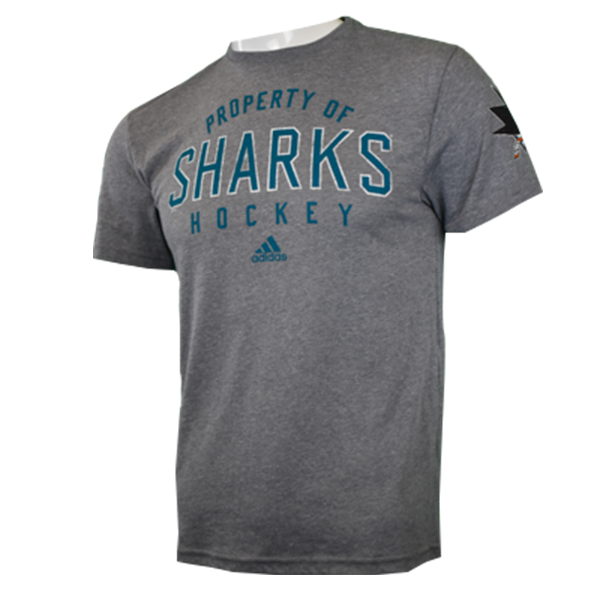 Adidas Sharks Property Tri Blend Short Sleeve Shirt