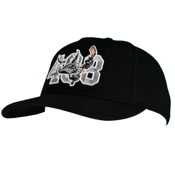 Barracuda 408 Black Snap Back Hat