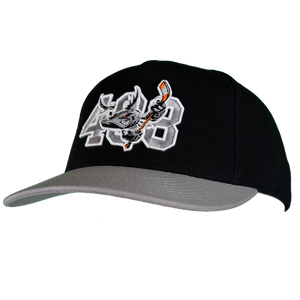 Barracuda 408 Black/Grey ADJ Hat