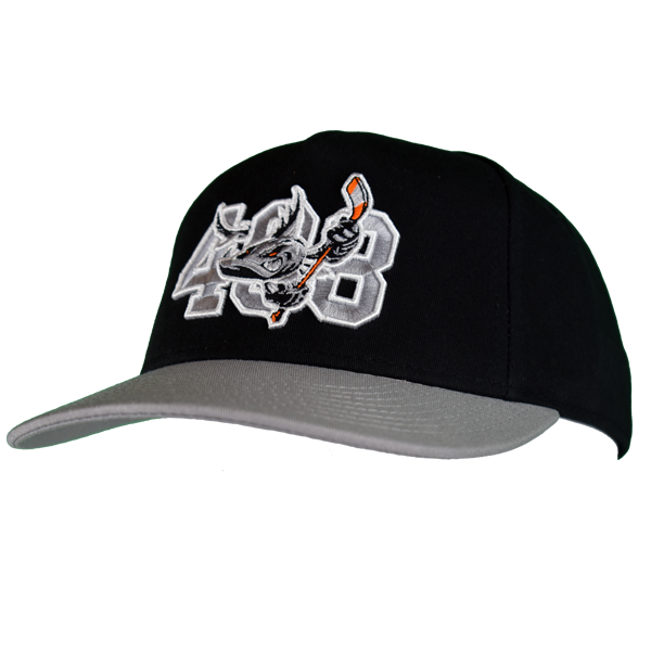 Barracuda 408 Black/Gray Snap Back Hat