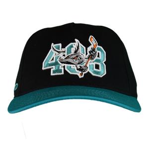 Barracuda 408 Black/Teal Flex Fit Hat
