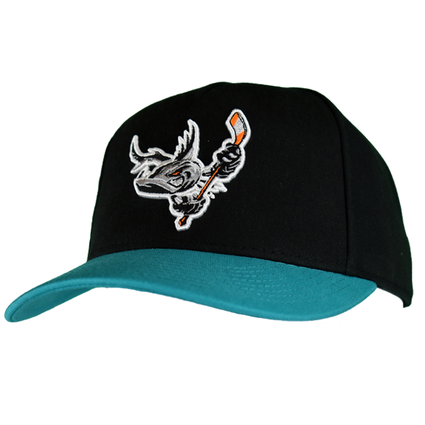 Barracuda Black/Teal Snap Back Hat