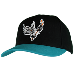 Barracuda Black/Teal ADJ Hat