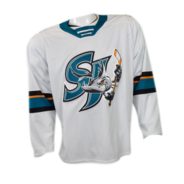 CCM Replica White Barracuda Jersey