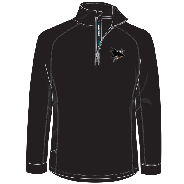 AAA JR Sharks Adult 1/4 Zip Performance Pullover