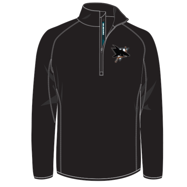 AAA Jr Sharks Youth 1/4 Zip Performance Pullover