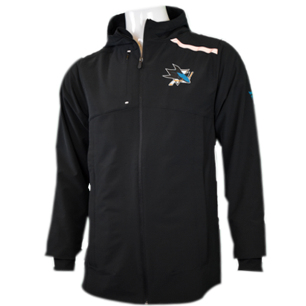 Fanatics Sharks Clutch Anorak Full Zip Rain Jacket