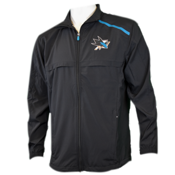 Fanatics Sharks Rinkside Full Zip Mock Jacket