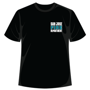 Sharks and San Jose Firefighters T-Shirt (proceeds benefitting the San Jose Firefighters Burn Foundation)