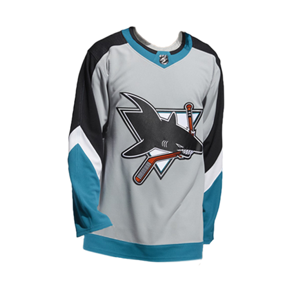 Adidas Sharks Authentic Gray Reverse Retro Jersey - Personalization Available