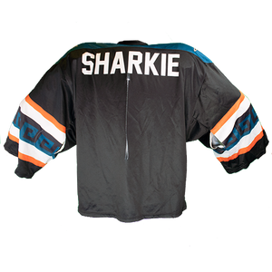 Signed One-of-a-Kind SJ Sharkie 2017-18 Los Tiburones Game Worn Jersey
