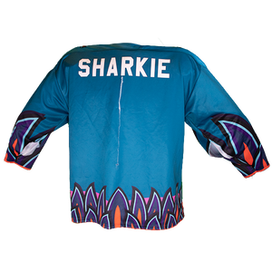 Signed One-of-a-Kind SJ Sharkie 2019-20 Los Tiburones Game Worn Jersey