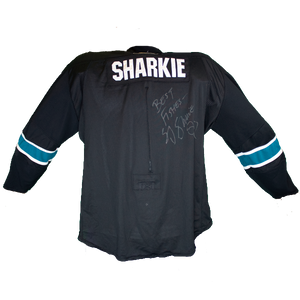 Game Used SJ Sharkie jersey. 2012, 3rd Jersey