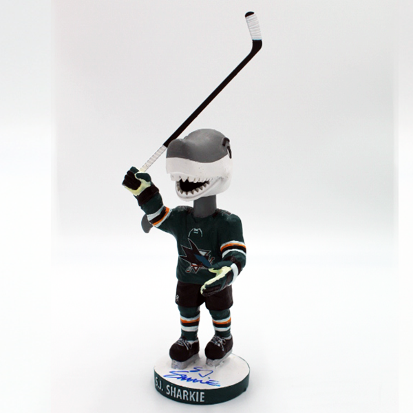 Signed SJ Sharkie Appearance Exclusive Post Game Salute Bobblehead