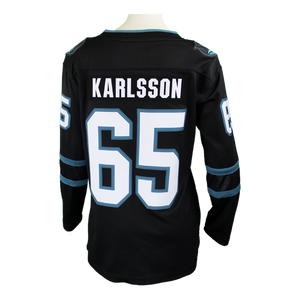 Fanatics Sharks Erik Karlsson Black Women's Stealth Jersey 40% Off
